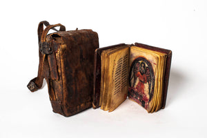 Coptic bible with paintings and case