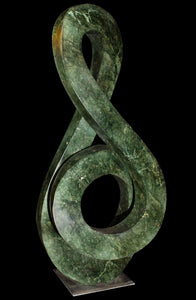 Green Infinity sculpture front