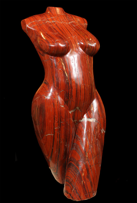 Red Jasper Torso Sculpture