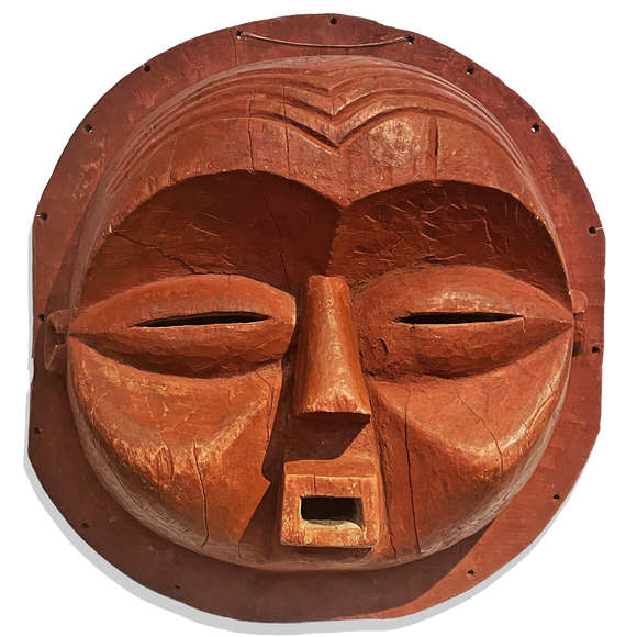 Large round red mask