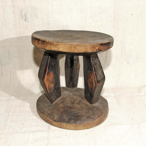 Stool showing authentic wear signs