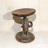 Antique Buffalo Stool