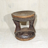 African Stool with high black patina