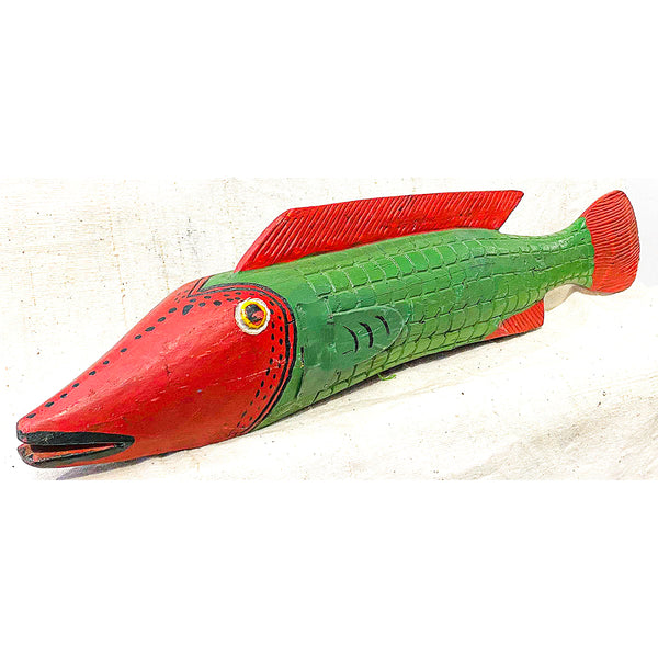 Bozo Fish wood puppet