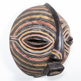 painted wood African mask