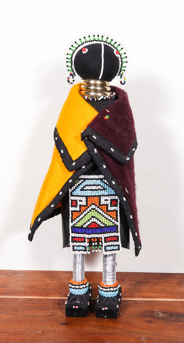 hand beaded doll from Africa