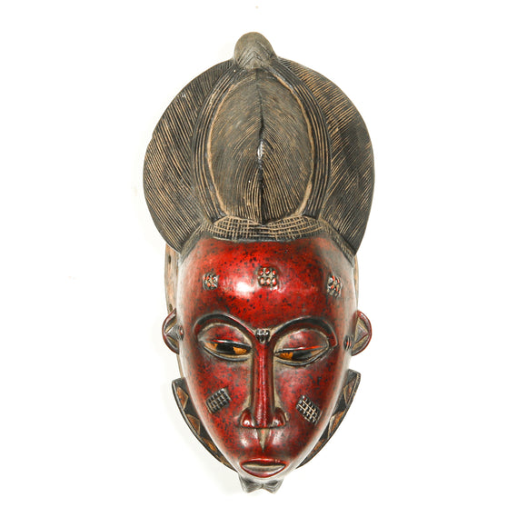 Red African mask for sale