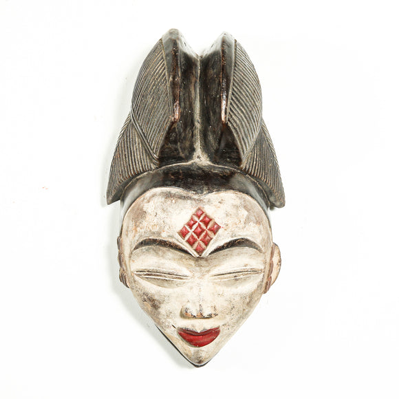 Punu mask with white face