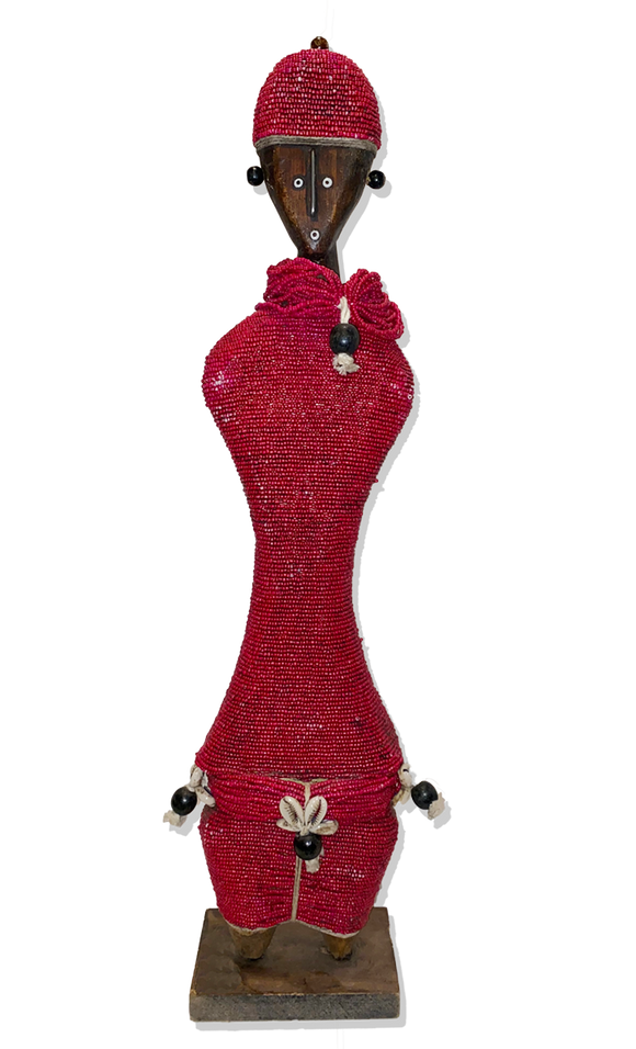 Red beaded Doll