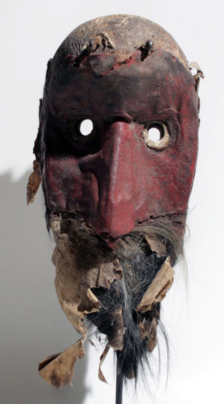 Dan mask with red fabric