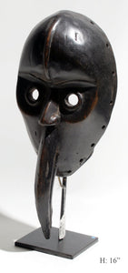 Bird mask on base