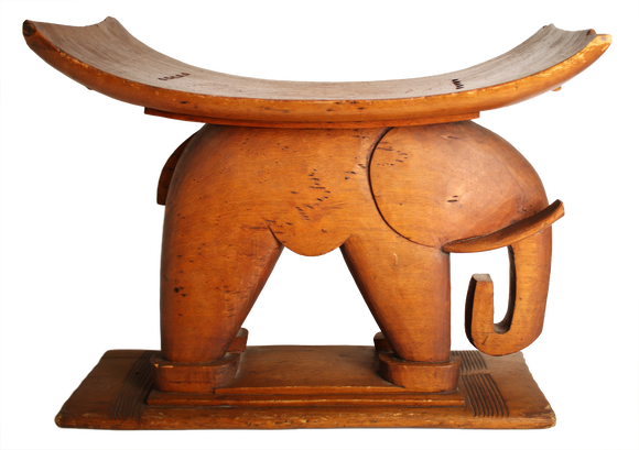 Stool with elephant front