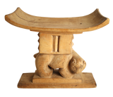 Ashanti stool with cat