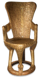 Gold throne front view