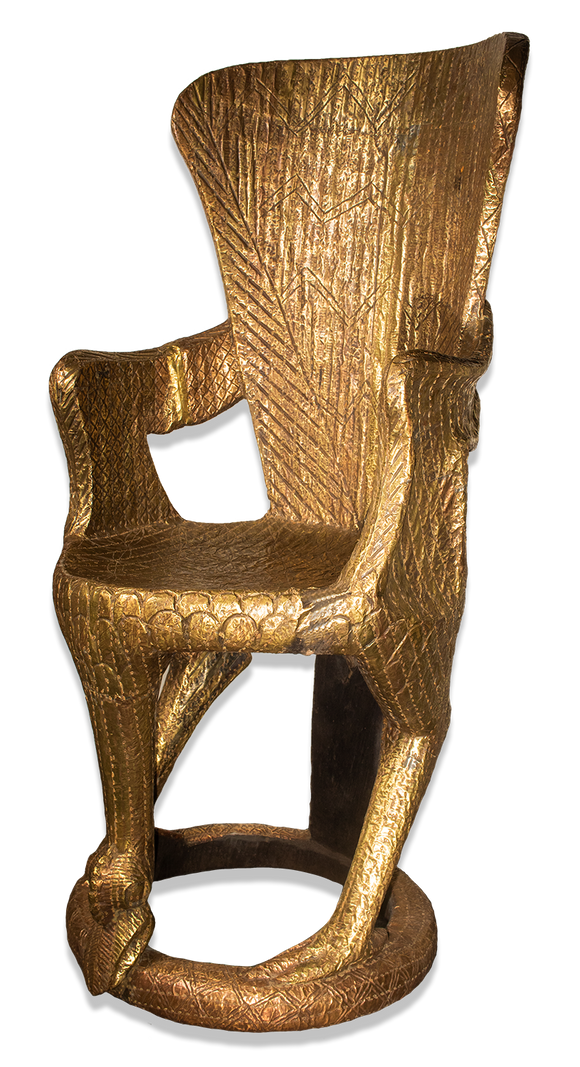 Gold throne side view