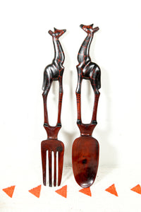 Salad Tongs with giraffes