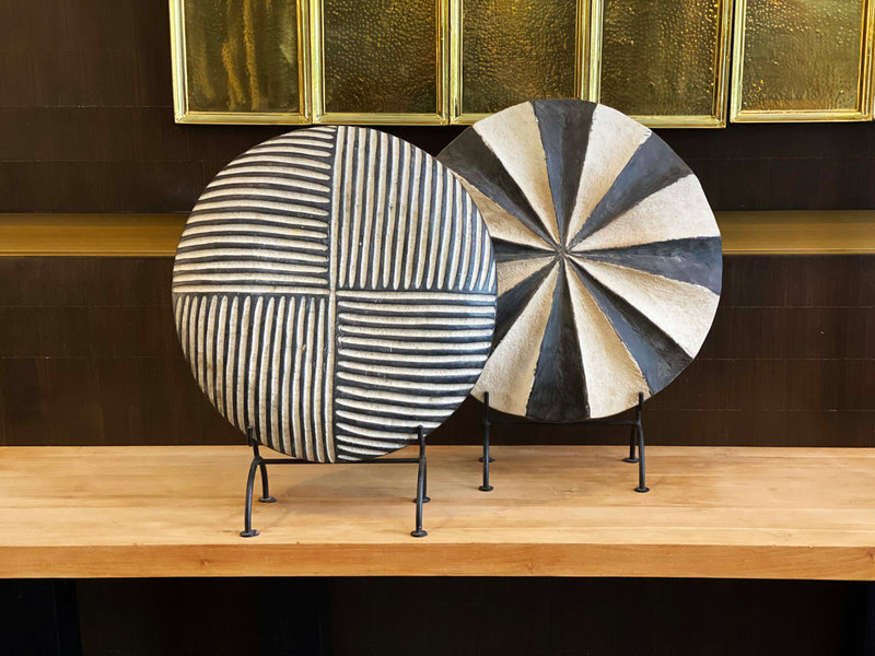 modern Cameroonian dancing shield home decor