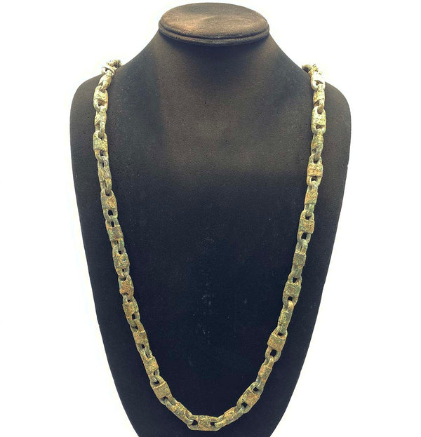 antique metal necklace chain from North Africa