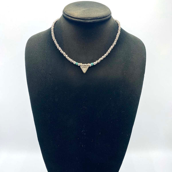 delicate African choker necklace