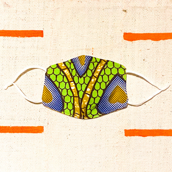 African print face mask covering