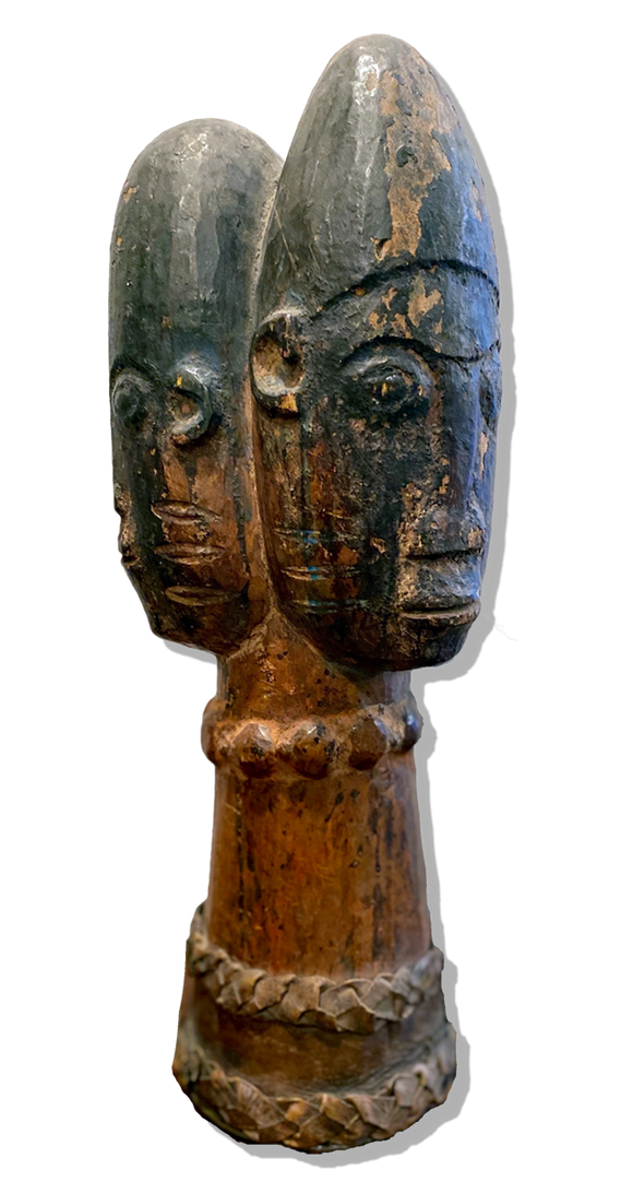 Piece with three faces