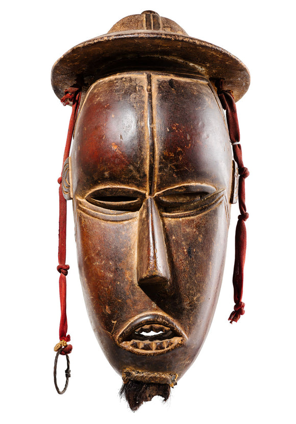 Baule mask with colonial helmet