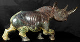 Black rhino in Cobalt stone from Zimbabwe