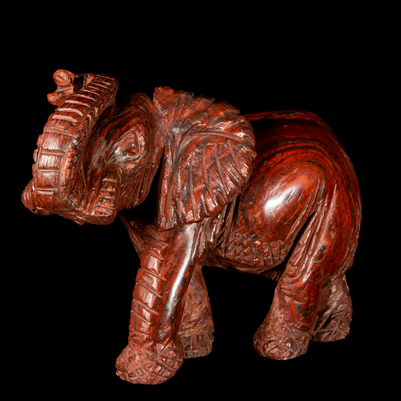 Amazing Red Jasper carving of an elephant