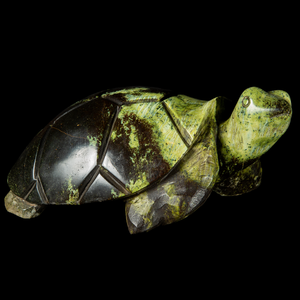 Green turtle sculpture