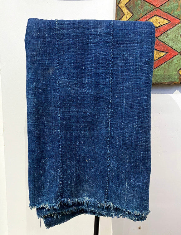 Cotton blue Indigo fabric from Africa