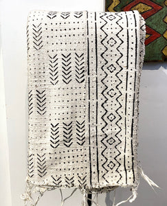 White African cotton fabric