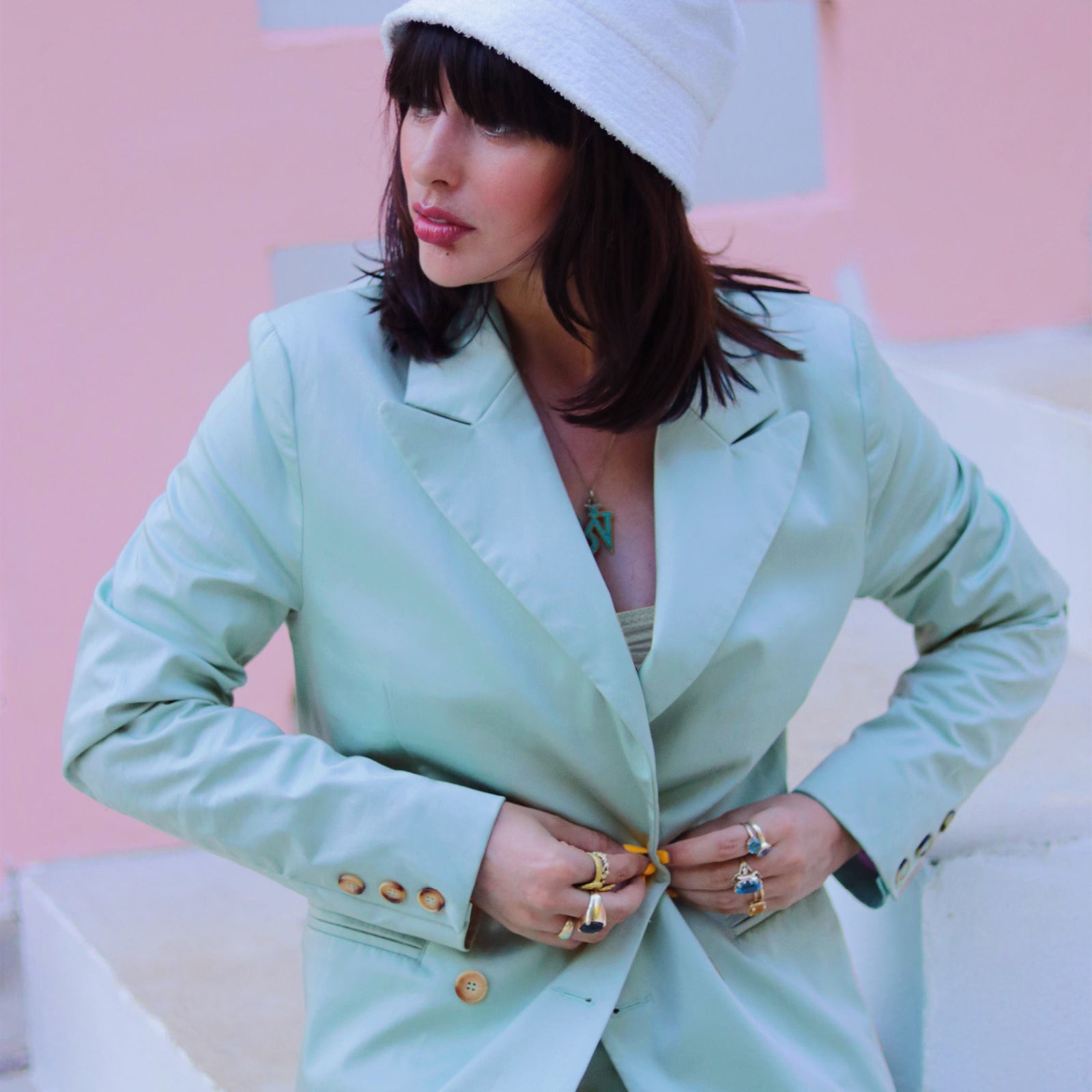 Julia Sweepstake Winners Bobby Suit Sage Mint Green