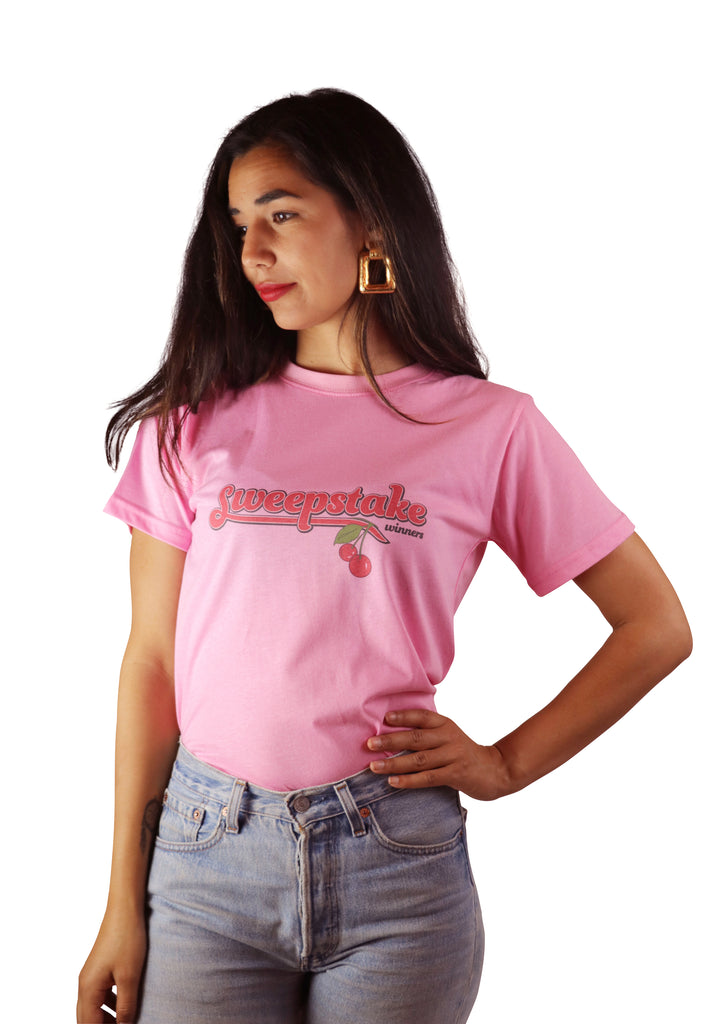 Cherries Logo Tee (Bubblegum)