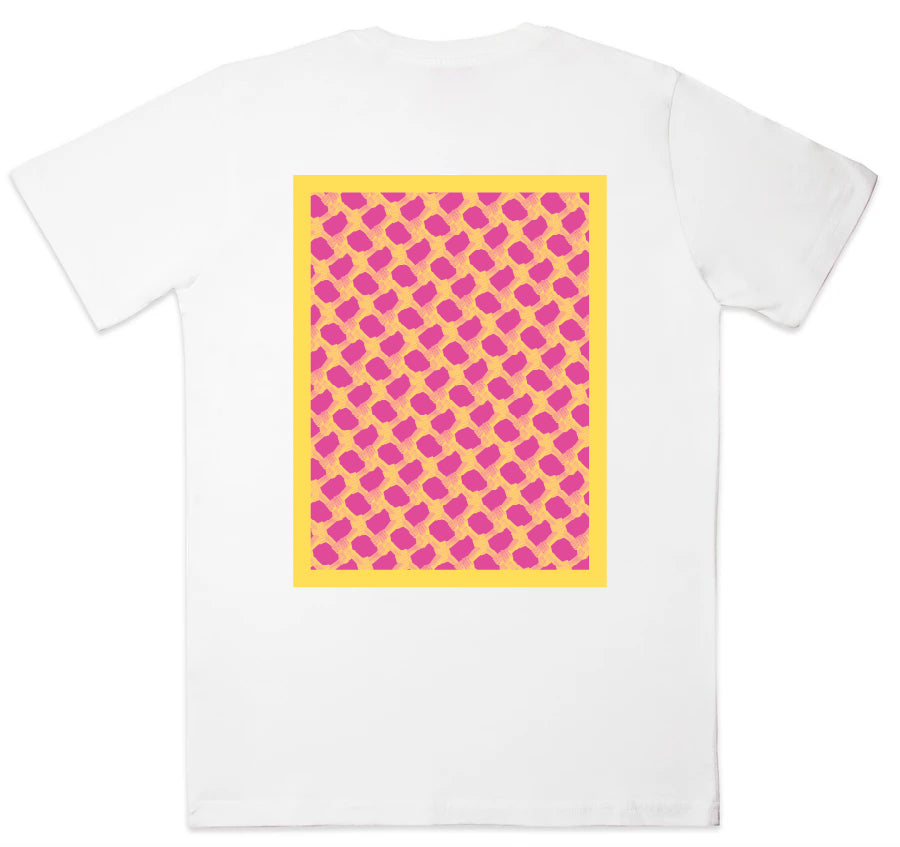 Fuchsia/Yellow Fishnet Tee - (H x Dotnut x SW Collab)