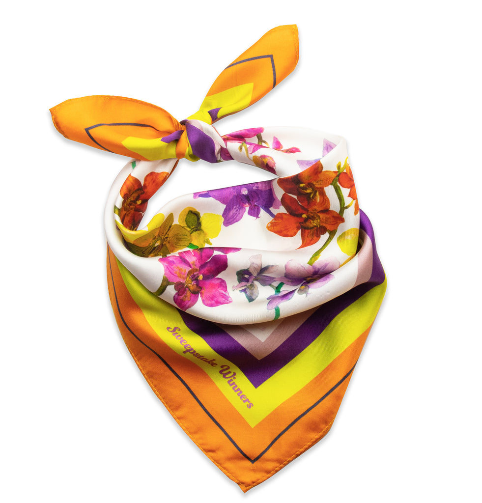 Orchids Bandana (Orange/Violet)