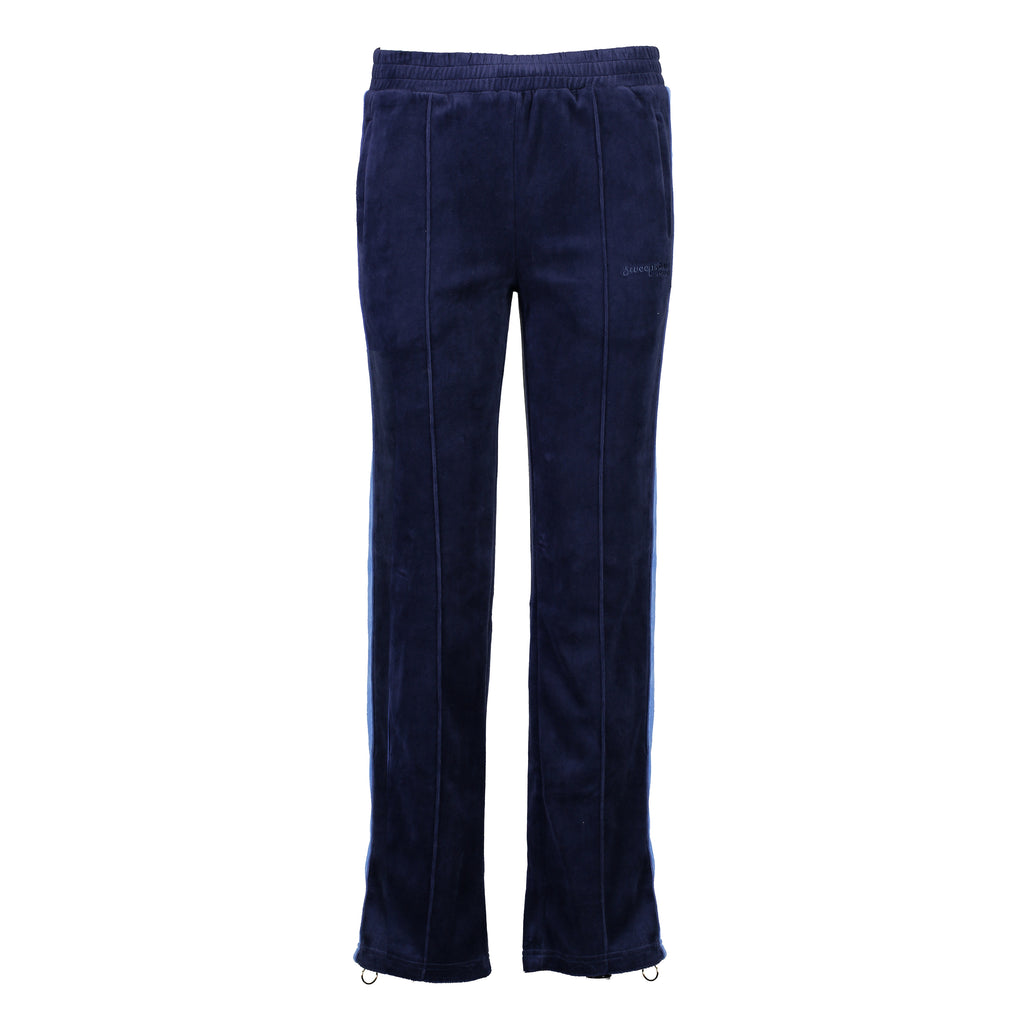 Velour Jogging Pants (Ink/Cornflower Blue)