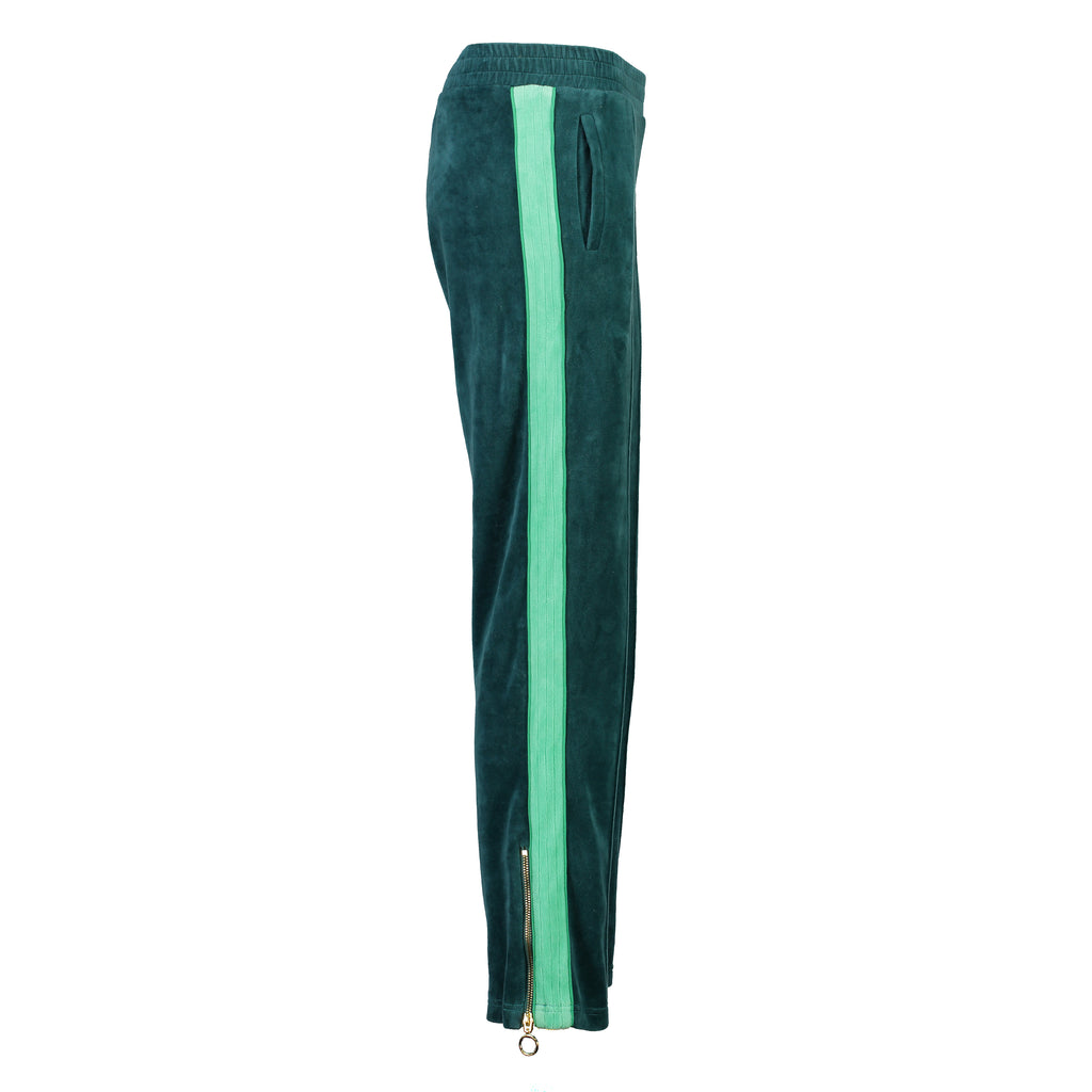 Velour Jogging Pants (Forest Green/Mint)