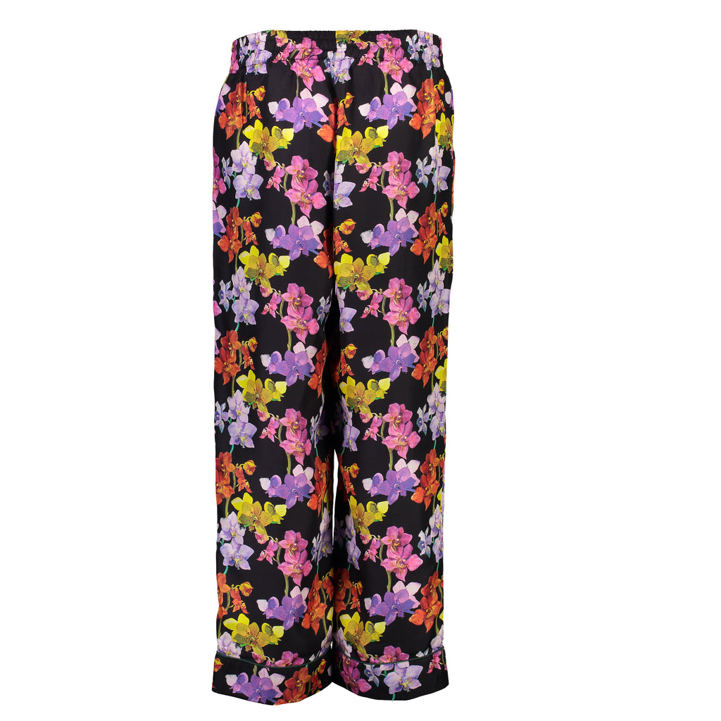 Orchids Silk Pants