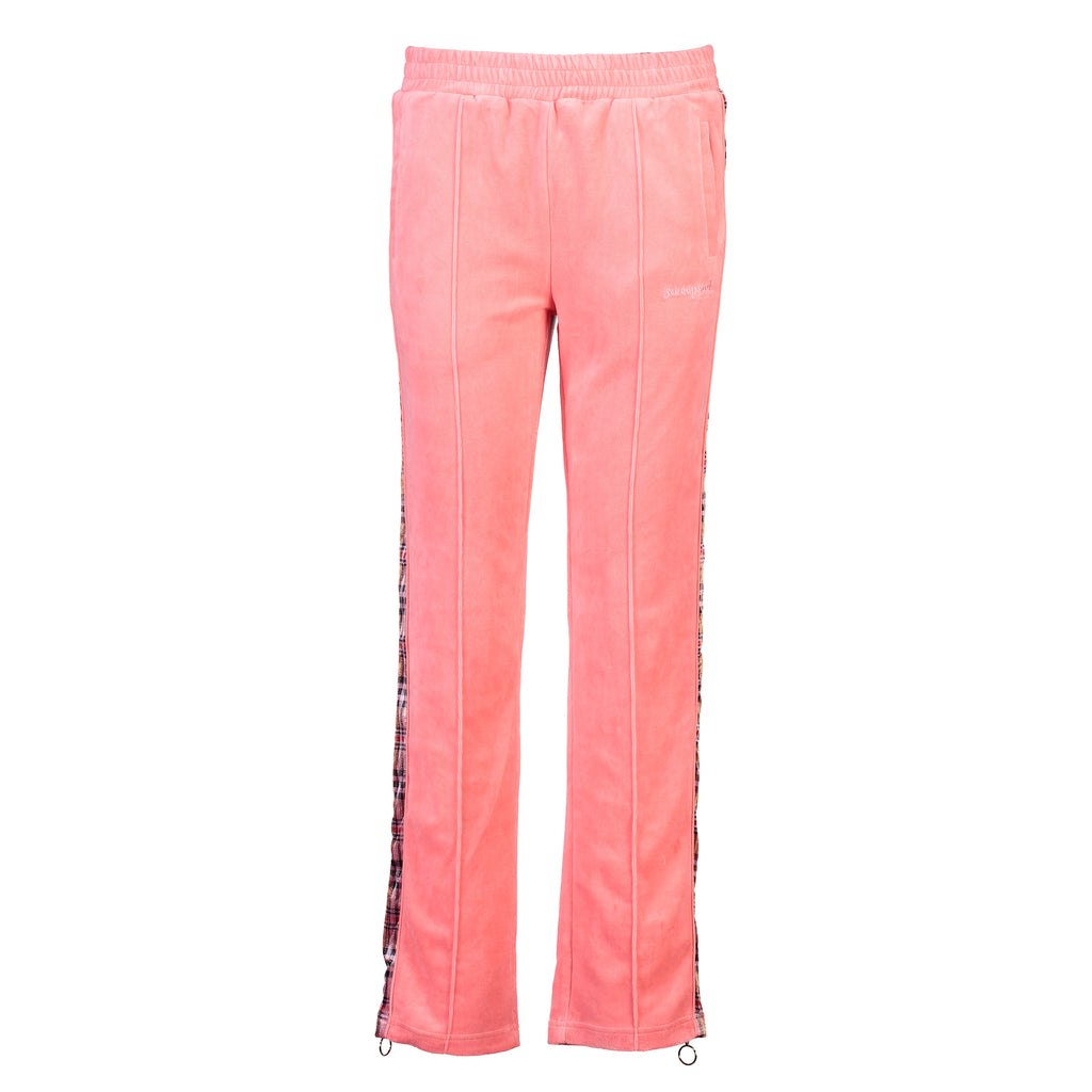 Velour Jogging Pants (Dusty Rose/Tartan)