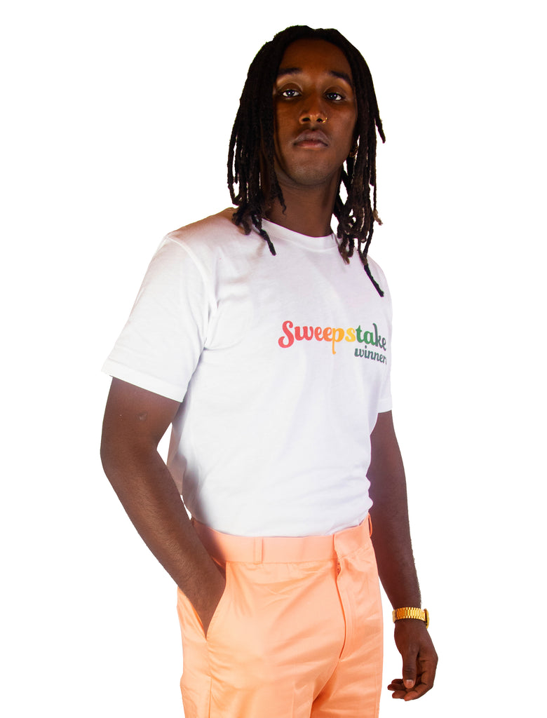Rainbow Logo Tee (White)