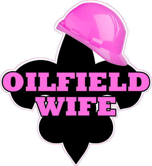 Oilfield Wife Fleur De Lis Decal