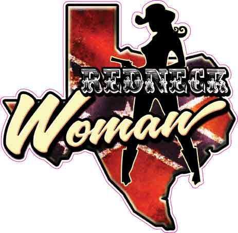 Texas Rebel Redneck Woman Decal