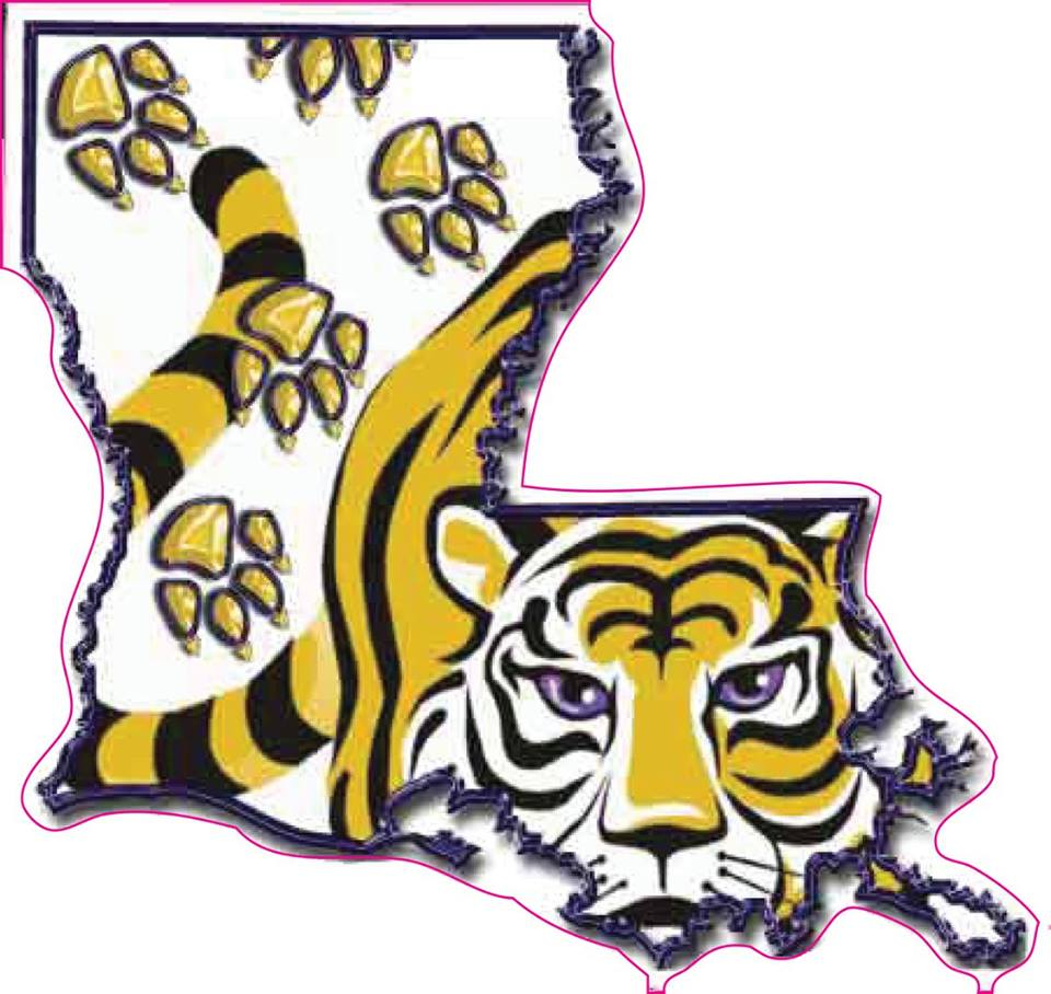 Purple & Gold Louisiana Tigers Decal