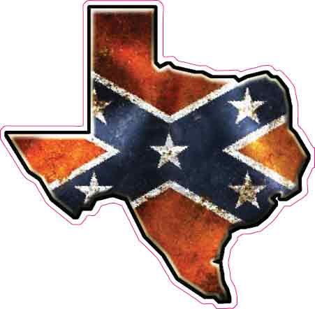 Texas Rebel Flag Decal