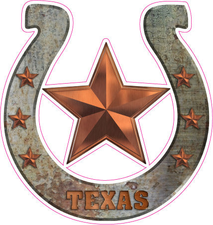 Texas Horseshoe Decal