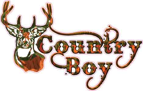 Country Boy Buck Decal