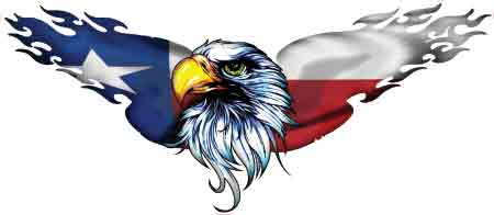Texas Flag Eagle Decal