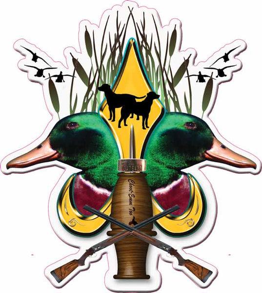 Duck Hunter Fleur De Lis Decal