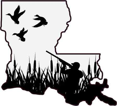 Louisiana Duck Hunter Decal