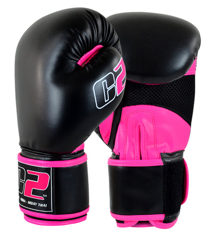 C2 Boxing Gloves w/ XtraFresh Blk/Pnk